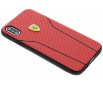 Ferrari Rood On Track Carbon Hard Case iPhone Xs / X