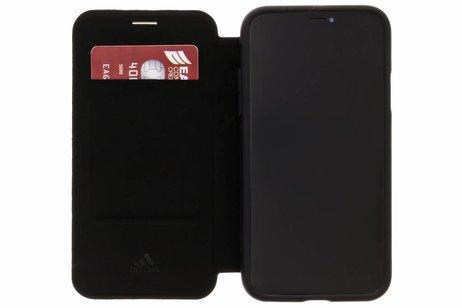 adidas Sports Folio Grip Booktype voor iPhone X / Xs - Zwart