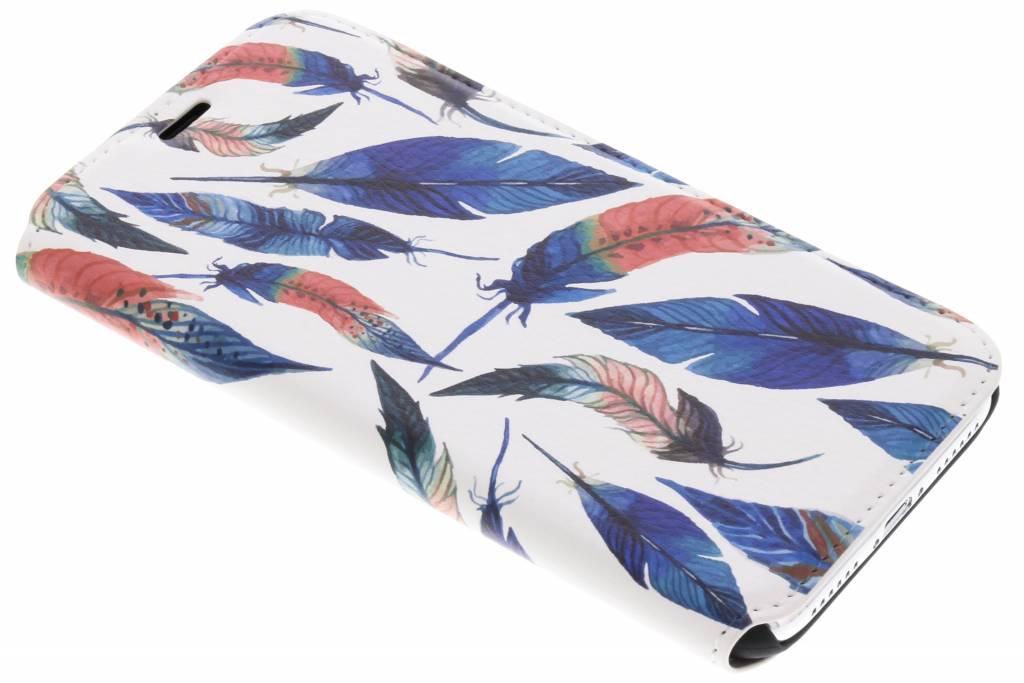 Design Hardcase Booktype voor iPhone X / Xs - Ibiza Feather