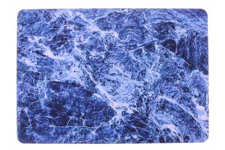 Design Hardshell Cover voor MacBook Pro Retina 13.3 inch Touch Bar - Marmer Blauw