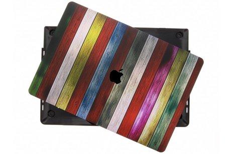 Design Hardshell Cover voor MacBook Pro Retina 15.4 inch Touch Bar - Gekleurd hout