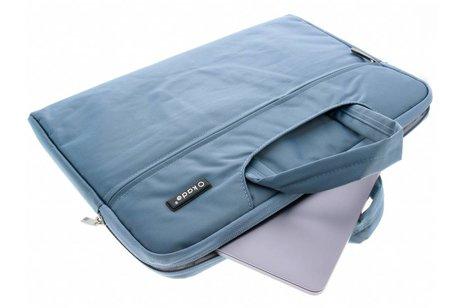 Blauwe universele laptoptas 15 inch