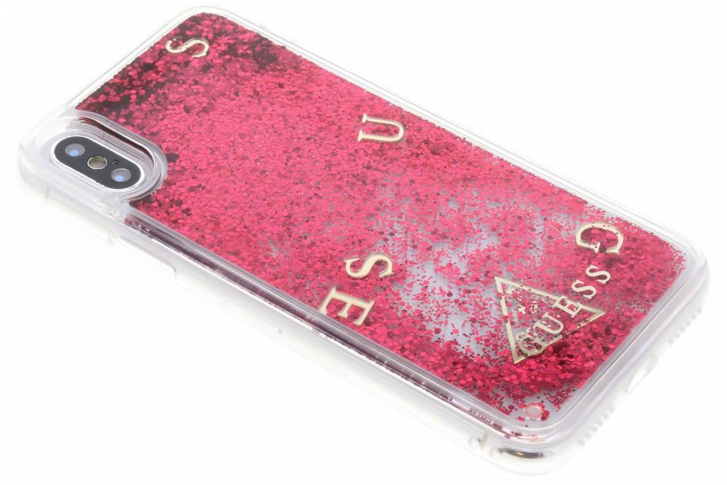 Rood Liquid Glitter Hardcase iPhone Xs / X