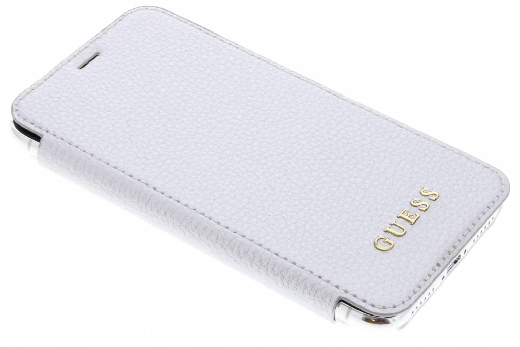 Zilver Transparent Back Foliocase iPhone Xs / X