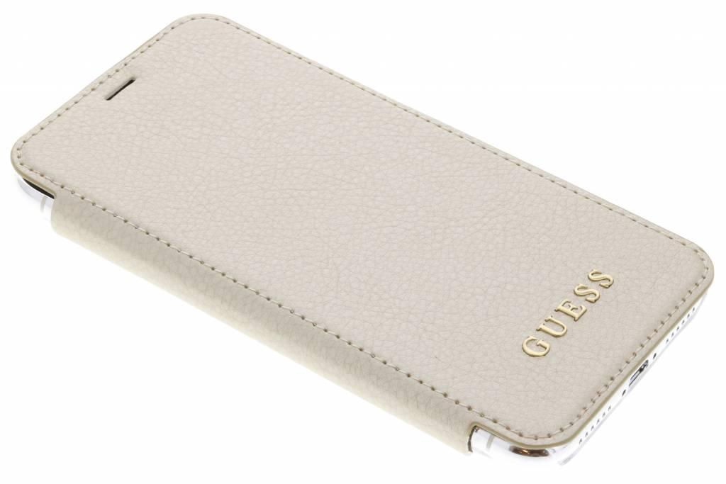 Goud Transparent Back Foliocase iPhone Xs / X
