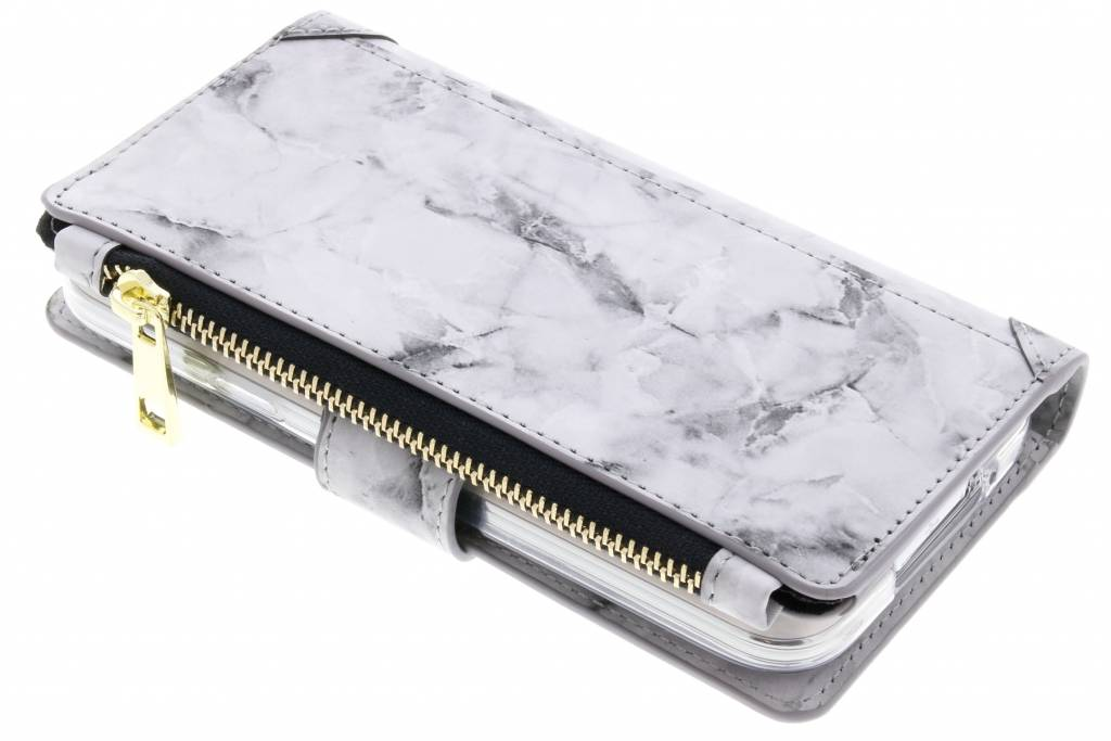 Marmer Design Portemonnee voor Samsung Galaxy S5 (Plus) / Neo - Grijs