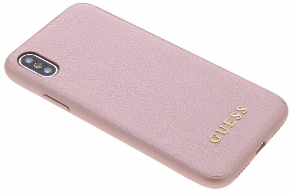 Guess Roze iriDescent Hardcase voor de iPhone Xs / X