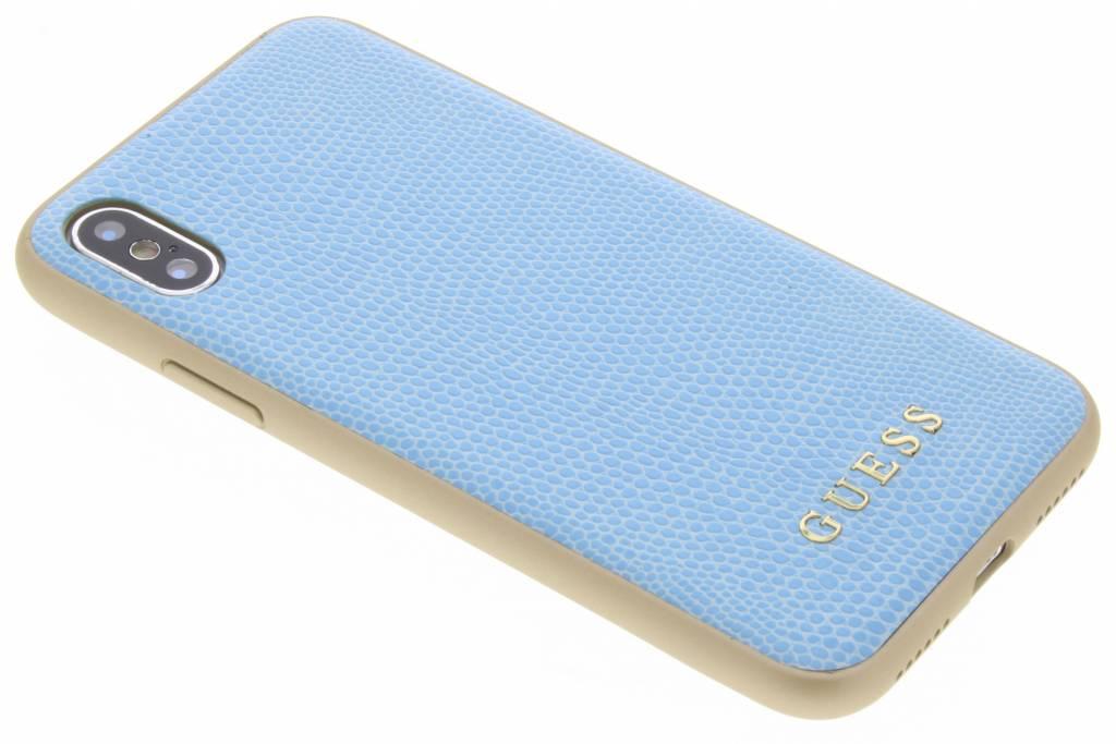 Blauw Lederen Hardcase iPhone Xs / X