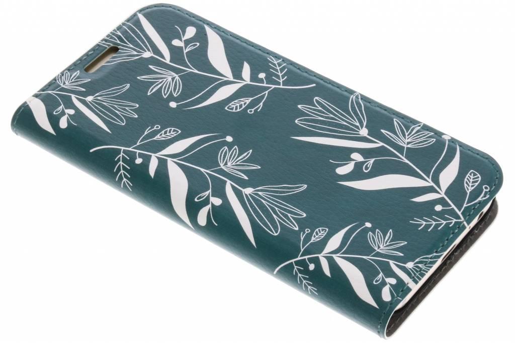 Design Hardcase Booktype voor Samsung Galaxy A3 (2017) - Botanic Bloem