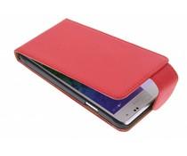 Rood classic flipcase Samsung Galaxy Alpha