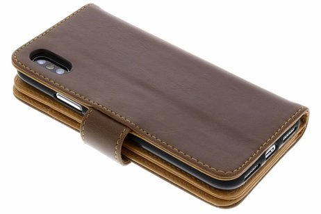 Portemonnee Hoes 11-vaks voor iPhone X / Xs - Bruin
