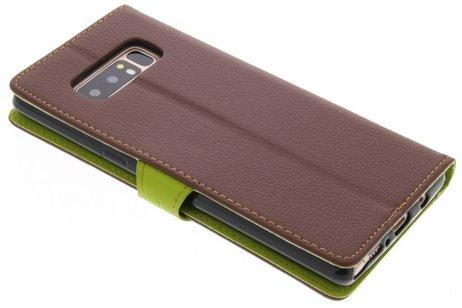 Blad Design Booktype voor Samsung Galaxy Note 8 - Bruin