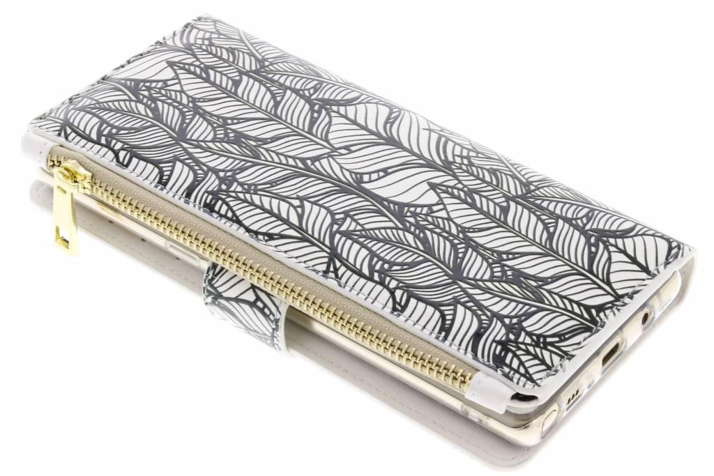 Design Luxe Portemonnee voor Samsung Galaxy Note 8 - Botanic Feathers