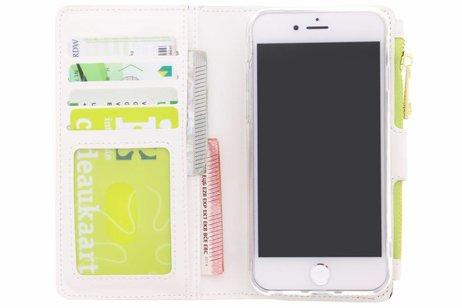 Design Luxe Portemonnee voor iPhone 8 / 7 - Monstera Leafs