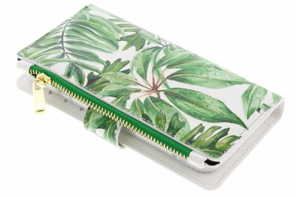 Design Luxe Portemonnee voor iPhone 8 / 7 - Bladeren Groen