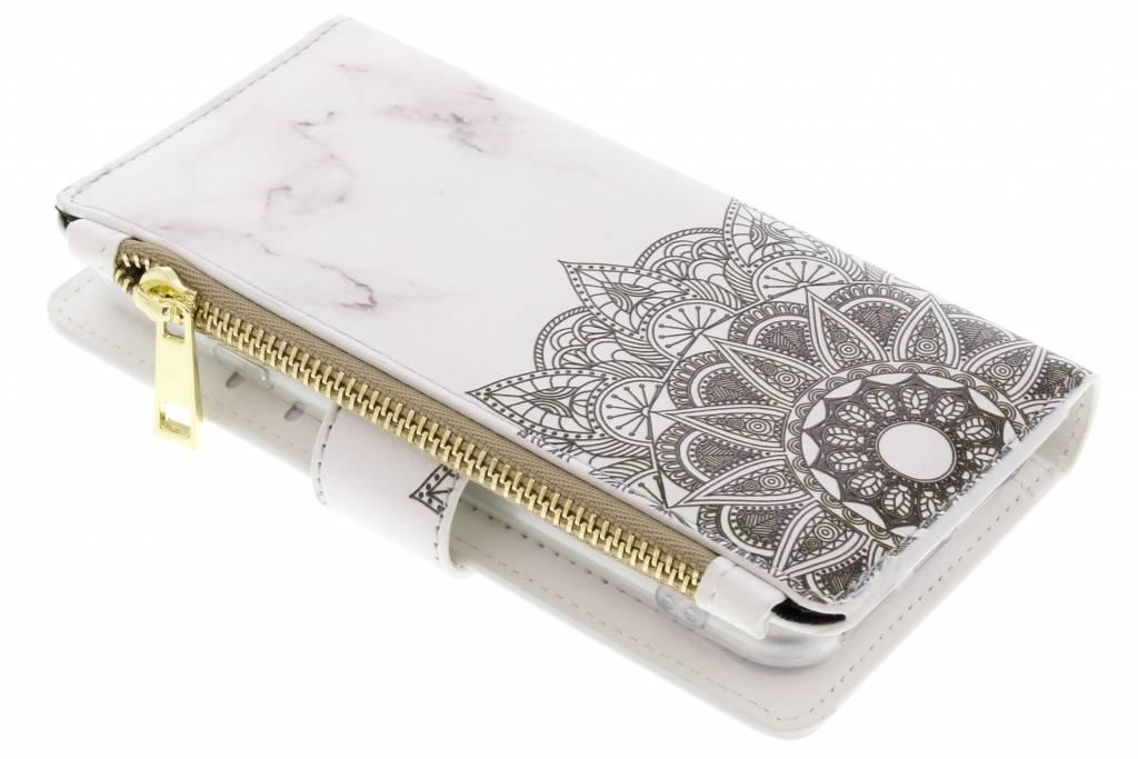 Design Luxe Portemonnee voor iPhone 8 / 7 - Marmer Mandala