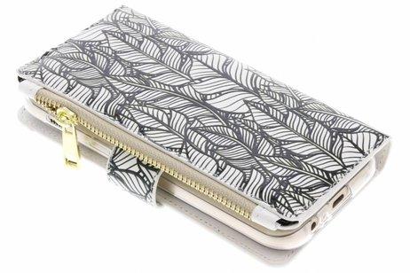 Design Luxe Portemonnee voor Samsung Galaxy A5 (2017) - Botanic Feathers
