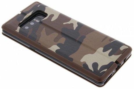 Samsung Galaxy Note 8 hoesje - Army Slim Folio Booktype
