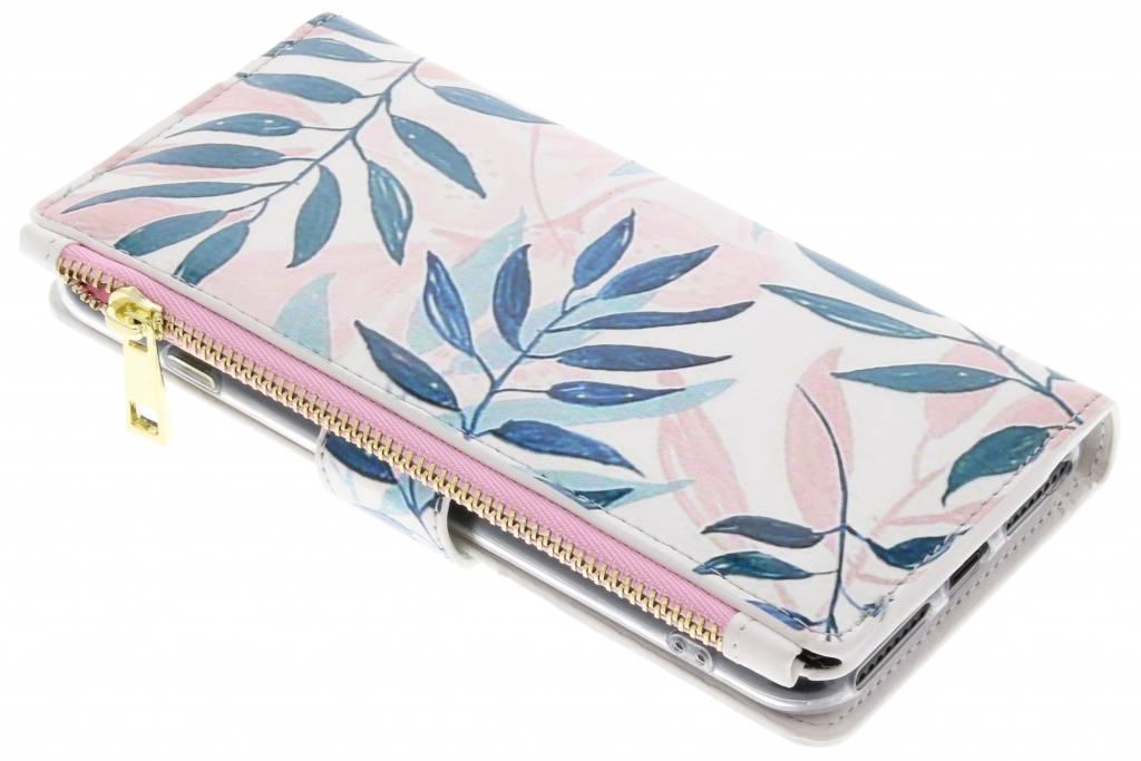 Design Luxe Portemonnee voor iPhone 8 Plus / 7 Plus - Bladeren
