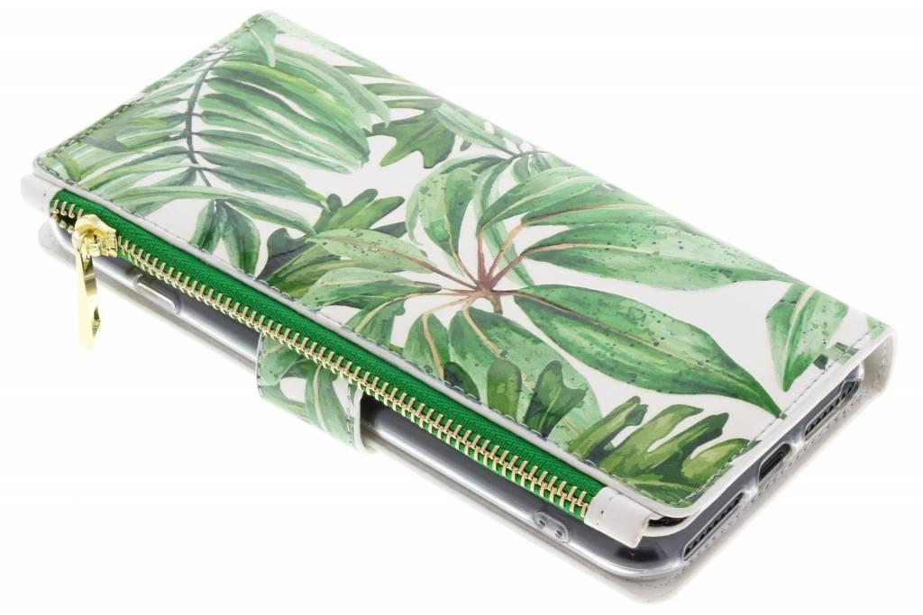 Design Luxe Portemonnee voor iPhone 8 Plus / 7 Plus - Bladeren Groen