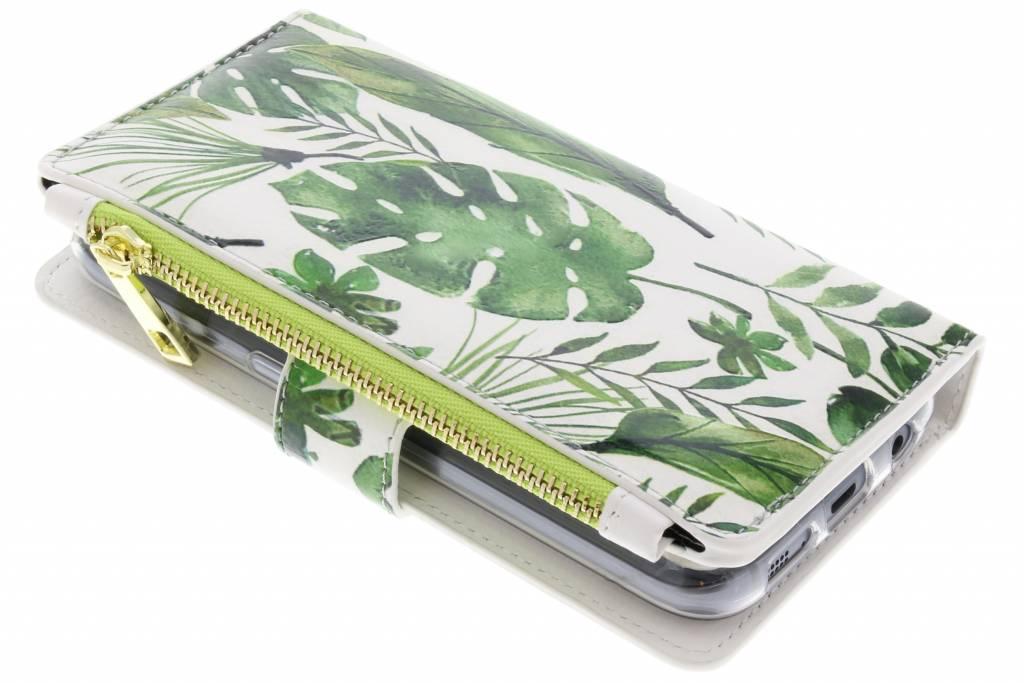 Design Luxe Portemonnee voor Samsung Galaxy S7 - Monstera Leafs