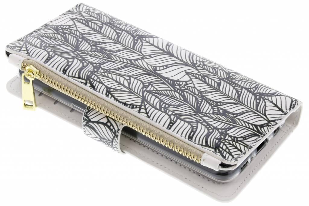 Design Luxe Portemonnee voor Samsung Galaxy S8 - Botanic Feathers