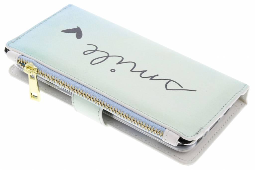Design Luxe Portemonnee voor Samsung Galaxy S8 - Smile