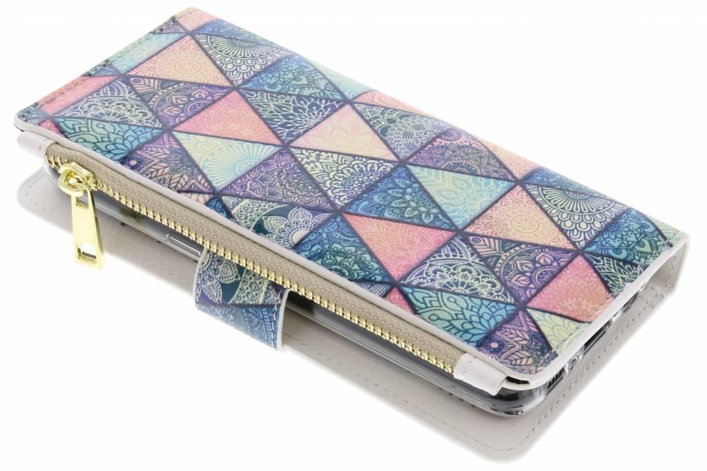Design Luxe Portemonnee voor Samsung Galaxy S8 - Grafisch Triangels