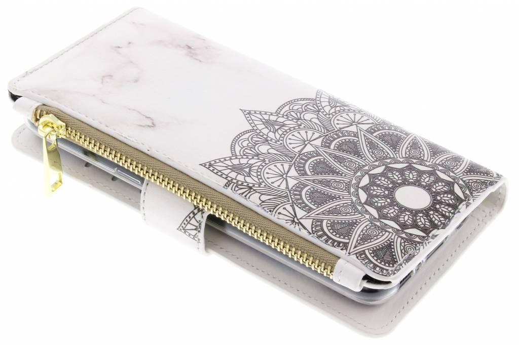 Design Luxe Portemonnee voor Samsung Galaxy S8 - Marmer Mandala