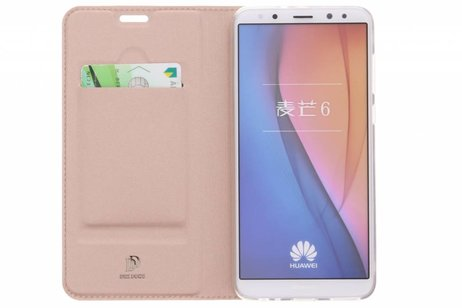 Dux Ducis Slim Softcase Booktype voor Huawei Mate 10 Lite - Rosé goud