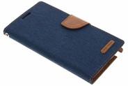 Mercury Goospery Canvas Diary Booktype voor Samsung Galaxy Note 3 - Blauw