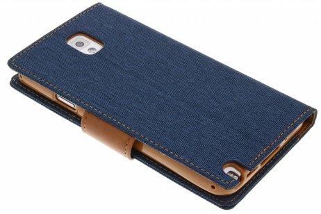 Samsung Galaxy Note 3 hoesje - Mercury Goospery Canvas Diary