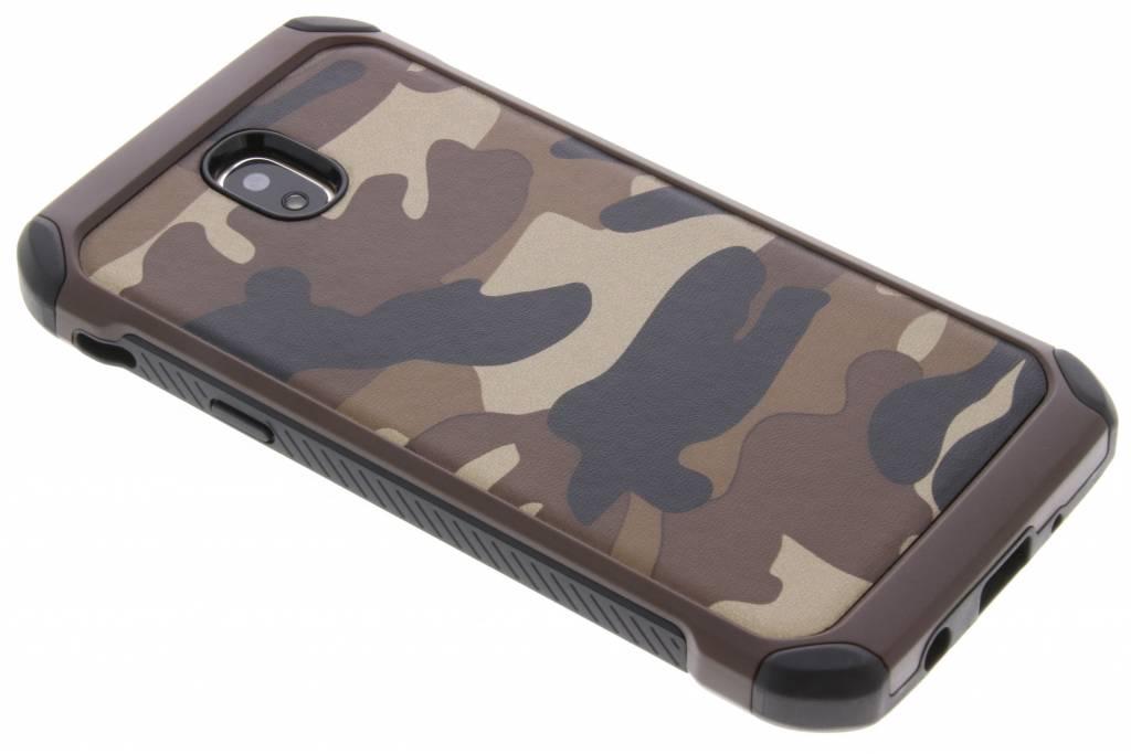 Army Defender Backcover voor Samsung Galaxy J5 (2017) - Bruin