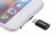 Ugreen Zwarte Micro-USB naar Lightning Adapter