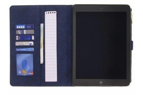 Luxe Booktype met rits voor iPad (2017) / (2018) - Blauw