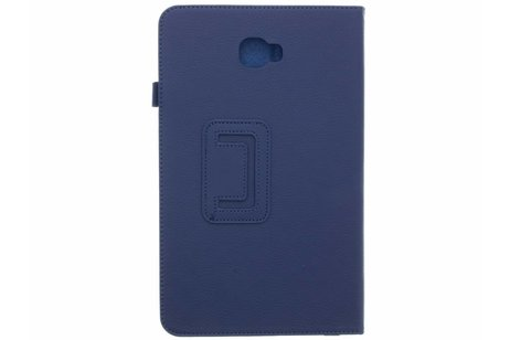 Effen Bookcase voor Samsung Galaxy Tab A 10.1 (2016) - Donkerblauw