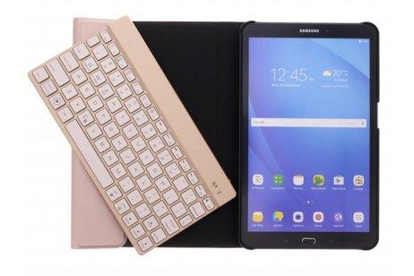 Bluetooth Keyboard Bookcase voor Samsung Galaxy Tab A 10.1 (2016) - Rosé Goud