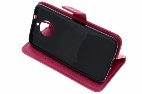 Motorola Moto G5S hoesje - Klavertje Bloemen Booktype voor