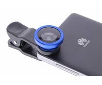 Universal Clip Lens macro / fish eye / wide angle - Blauw
