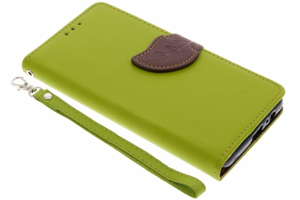 Blad Design Booktype voor Samsung Galaxy A8 (2018) - Groen