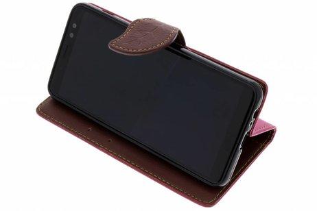 Samsung Galaxy A8 (2018) hoesje - Blad Design Booktype voor