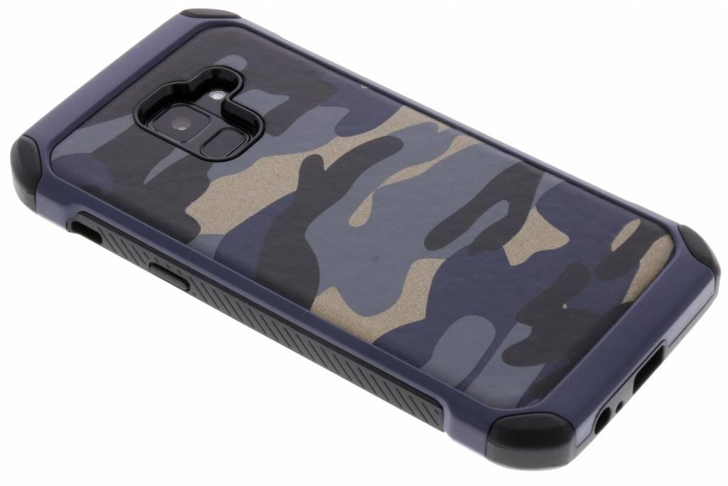 Army Defender Backcover voor Samsung Galaxy A8 (2018) - Blauw