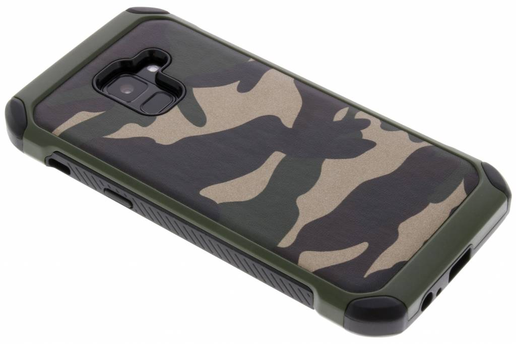 Army Defender Backcover voor Samsung Galaxy A8 (2018) - Groen