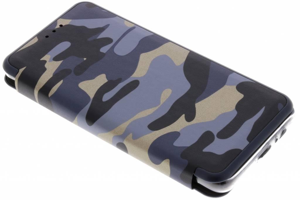Army Slim Folio Booktype voor Samsung Galaxy A8 (2018) - Blauw