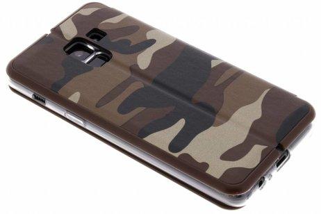 Samsung Galaxy A8 (2018) hoesje - Army Slim Folio Booktype