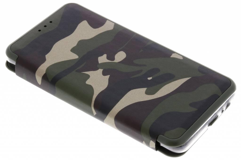 Army Slim Folio Booktype voor Samsung Galaxy A8 (2018) - Groen
