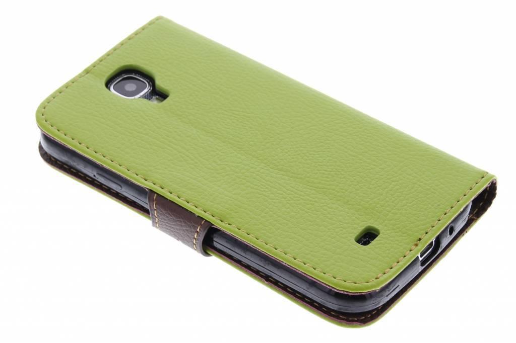 Blad Design Booktype voor Samsung Galaxy S4 - Groen