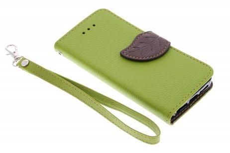 Samsung Galaxy S4 hoesje - Blad Design Booktype voor