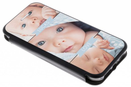 iPhone 5 / 5s / SE gel booktype hoes ontwerpen (eenzijdig)