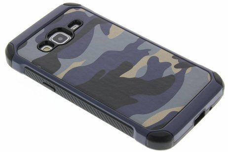 Army Defender Backcover voor Samsung Galaxy J3 / J3 (2016) - Blauw